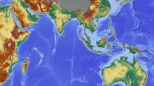 Indo-Pacific Region Geographical Map